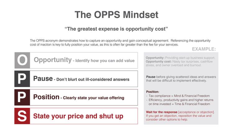 The OPPS Mindset